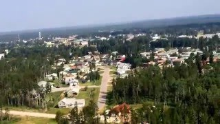 The Town Of Fort Smith Northwest Territories (Helicopter View)