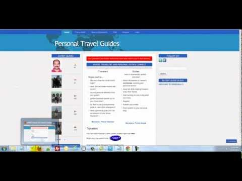 New Personal Travel Guides how-to sign up for your very own promotion pages.