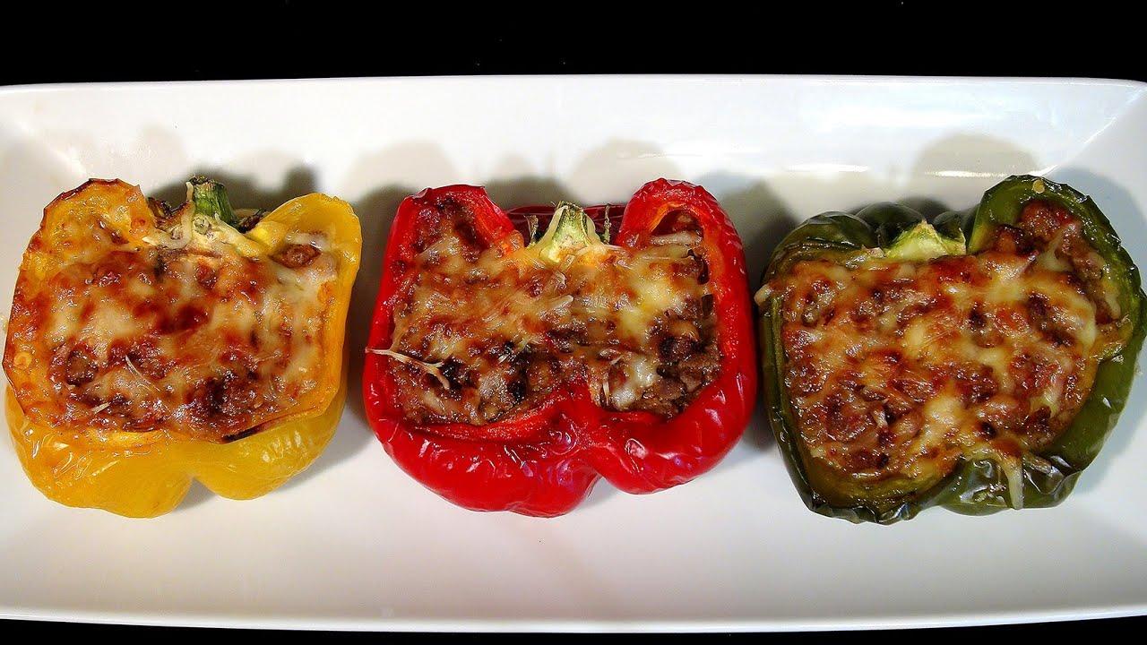 Pimientos tricolor rellenos de carne recetas de verduras - Pimientos rellenos de carne picada y bechamel ...