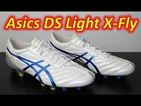Asics DS Light X-Fly K White/Deep Blue/Lime - Unboxing + On Feet