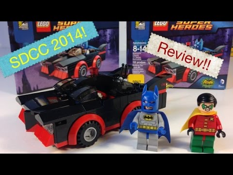 SDCC LEGO Batman Classic TV Series Batmobile - In Hand review!