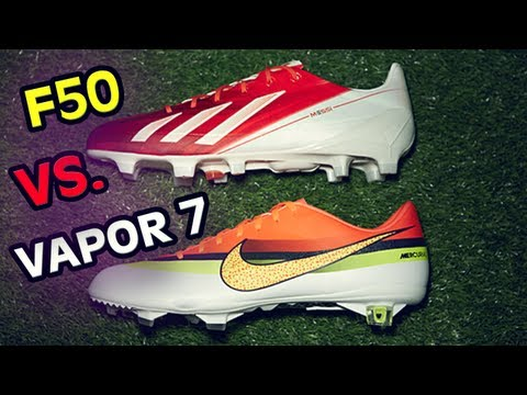 Adidas F50 vs. Nike Vapor 7 Review/Test: The Best Shoes in Football/Soccer Face Off & Free Kicks
