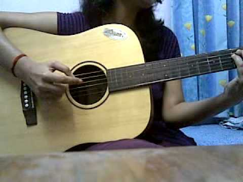 teri yaadein(lovestory) guitar cover