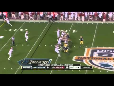 2013 BCS National Championship: Alabama Crimson Tide vs Notre Dame Fighting Irish Highlights