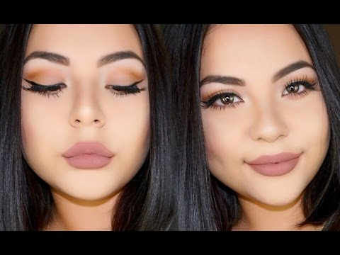 Everyday Glam Nude Makeup - YouTube