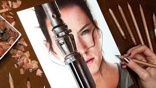 Drawing Rey - Star Wars: The Force Awakens