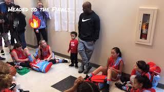 Lady WA Elite (4th grade girls) Basketball Semi-Finals Post Game - Presidents Day Tourney Stanwood