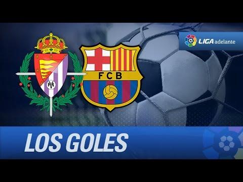 Todos los goles de Real Valladolid (7-0) FC Barcelona B - HD
