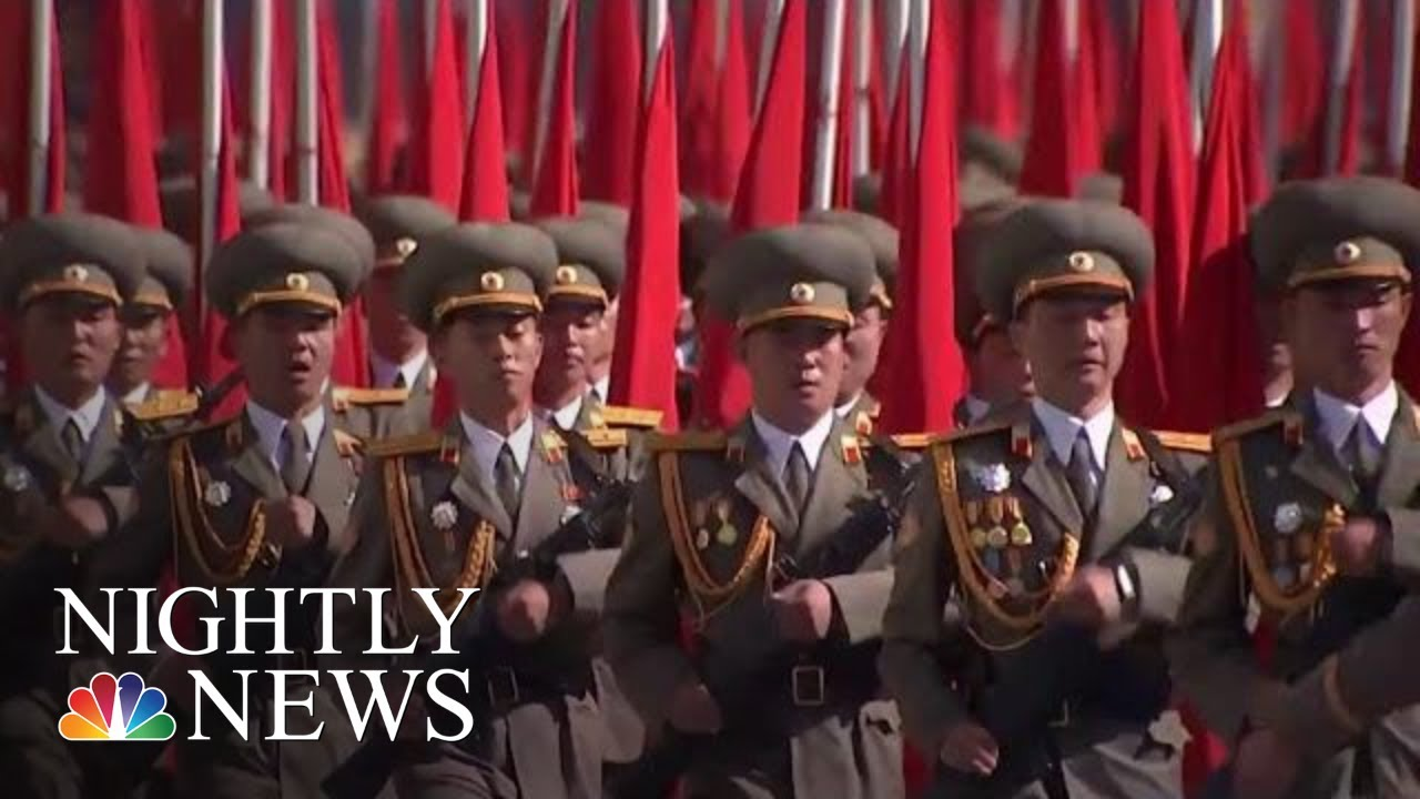 North Korea Holds 70th Anniversary Parade With No Advanced Missiles On Display | NBC Nightly News