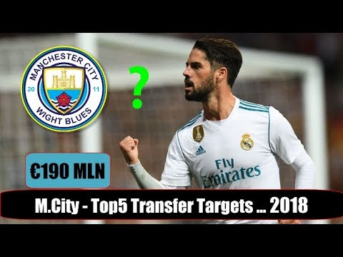 Man City - Top 5 Transfer Targets in Summer 2018 | HD