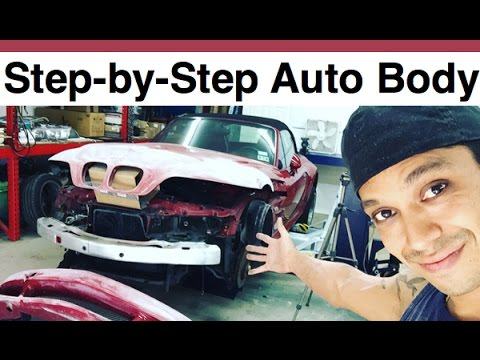 How To Paint a Car in Your Garage - Repairing Dents, Chips And Preparing for Professional Paint!