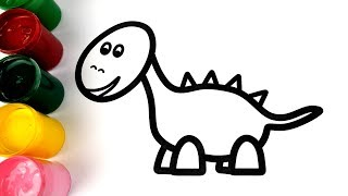 Learn Alphabet ABC peppa pig dinosaur coloring and drawing Learn Colors for kids VOVING COLORING
