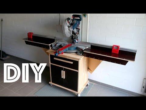 Kapp- und Gehrungssäge Station zum selber bauen  - DIY - build a Miter Saw Station  -