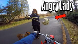Angry Lady Vs Dirt Bike