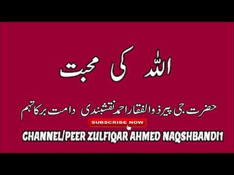 Allah Ki Mohabbat  Peer Zulfiqar Ahmed NaqshBandi (DB)