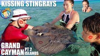 KISSING STINGRAYS! 👄 (FV Family 🌴 Grand Cayman Islands #2)