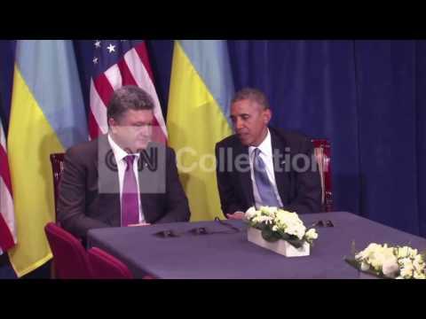 OBAMA ON MTG W UKRAINE PRES-ELECT-'GREAT PLEASURE'