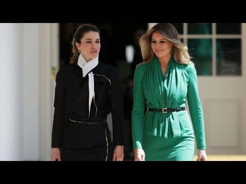 First lady Melania meets Queen Rania