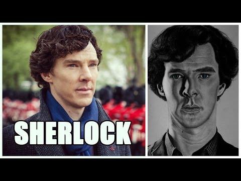 Видео как нарисовать Шерлока Холмса карандашом
