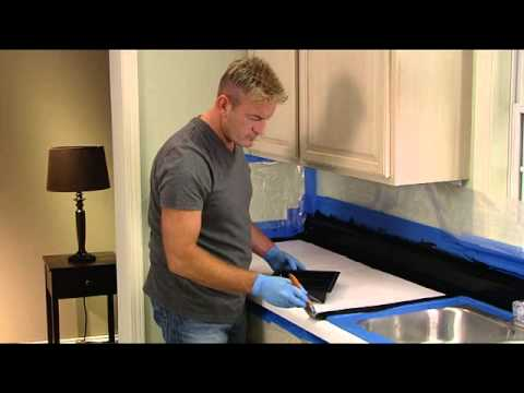 Countertop Replacement Cost : Rust-Oleum Countertop Transformations Application Video - YouTube