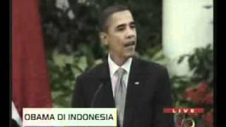 Obama: Bakso, Nasi Goreng, Krupuk, Semua Enak