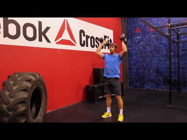 "Reebok CrossFit ONE Movement Demo ""Dumbbell Push Press"""
