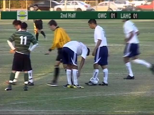Golden West College Men's Soccer Playoffs vs LA Harbor College 11-20-12