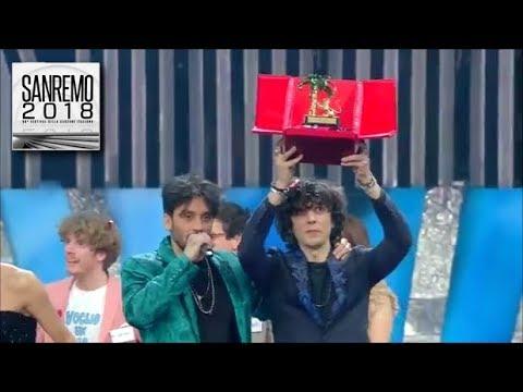 Sanremo 2018 - Ermal Meta e Fabrizio Moro vincono la 68^ edizione del Festival