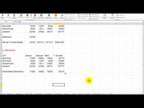 Excel 2010 Crashkurs Teil 1 Grundkurs