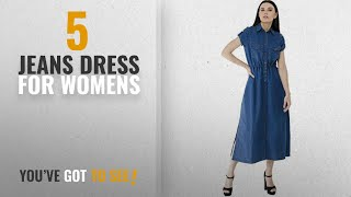 Top 10 Jeans Dress For Womens [2018]: Lomato denim long dress