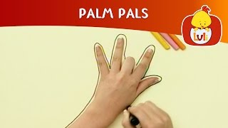 Palm Pals | How to draw Fish and Giraffe? | Cartoon for Children - Luli TV
