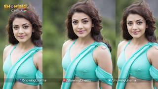 Kajal Agarwal Unseen Belly Button || Kajal Aggarwal Cute Saree Navel Show - Showing Cinema
