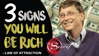 3 Signs You Will Become Rich | Law of Attraction