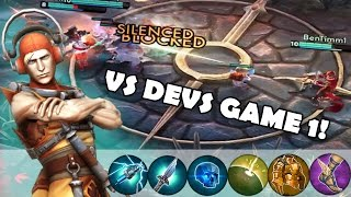 Some Vox Tips + Against The Devs Game 1 | Vainglory [Ranked] Lane Gameplay