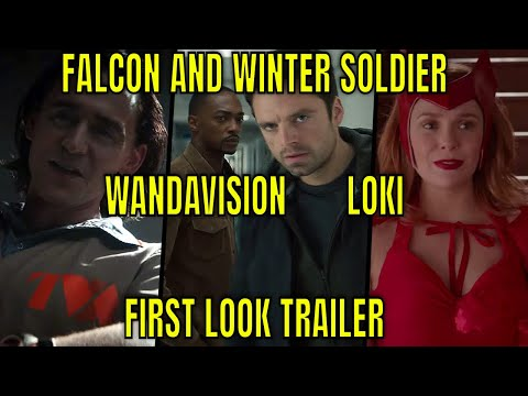The Falcon and The Winter Soldier - WandaVision - Loki - Marvel Disney+ First look Trailer