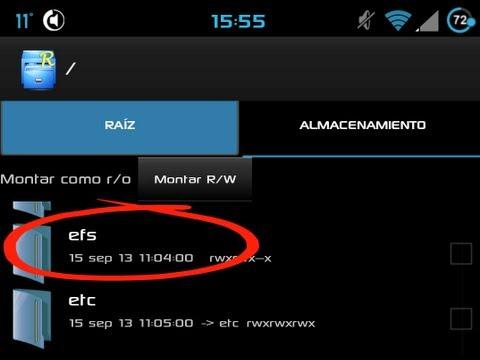 Galaxy S4 GT I9500 COPIAR Y RESTAURAR carpeta EFS -Backup and Restore- (1er procedimiento)
