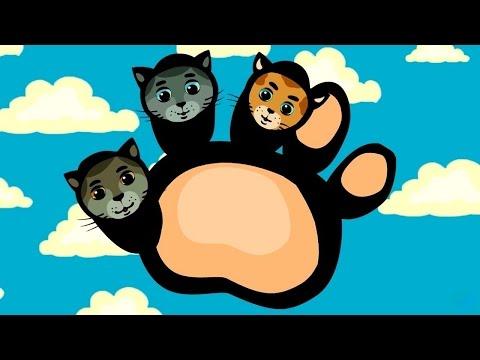 Папа-пальчик - теремок тв: песенки для детей (nursery rhyme) - Три котенка