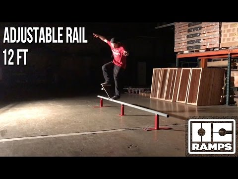 12ft long adjustable round rail by OC Ramps