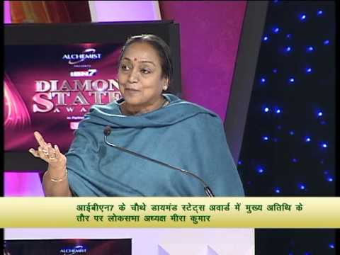 Madam Meira Kumar as Chief Guest at the 4th edition of Diamond States Awards of IBN7