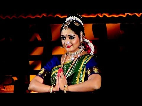 Kavya Madhavan Performing Bharatanatyam Dance At Nishagandhi Festival (2) video