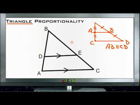 Triangle Proportionality Principles - Basic