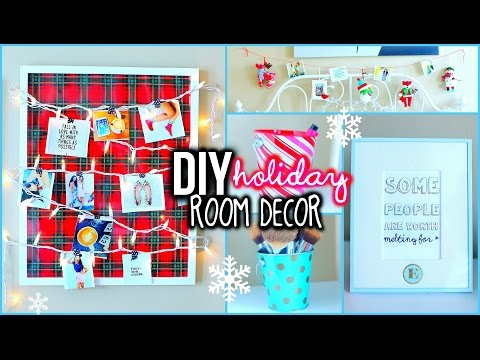 DIY Holiday Room Decorations! + Easy Ways To Organize!