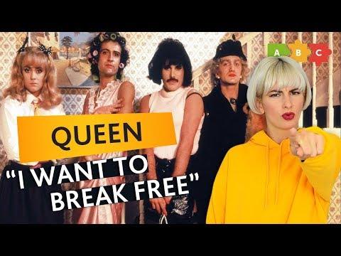 Разбираем клип и песню Queen —I Want to Break Free | Puzzle English