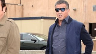 Sylvester Stallone Drops By Cafe Roma For Lunch