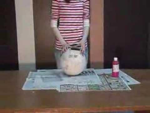 How to…. Papier mache and make a Balloon Pinata!