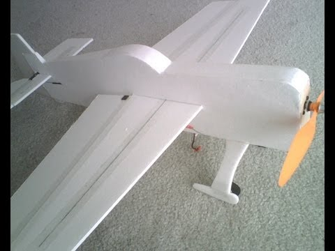 Making a 3D Foamy RC Airplane for Cheap! Plans to Maiden Flight.