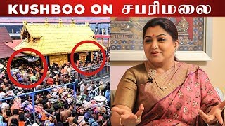"""If a Woman Does not BLEED a Man Wouldn't be BORN"" – Kushboo on Sabarimala Issue"