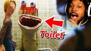 BE AFRAID OF YOUR TOILETS. VERY. AFRAID. | Reacting To Scary Stories (SSS)
