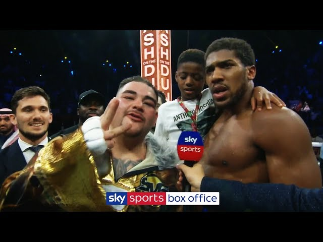 Andy Ruiz Jr interrupts Anthony Joshua interview to demand THIRD fight following rematch defeat! thumbnail