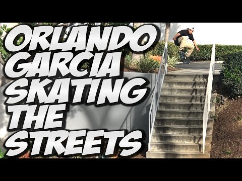 ORLANDO GARCIA SKATING THE STREETS !!! - A DAY WITH NKA -